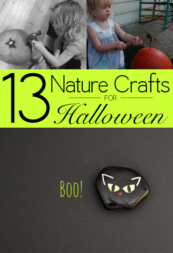 Halloween crafts don't have to be all plastic and pre-fab; check out these 13 Halloween nature crafts for some green ways to celebrate!