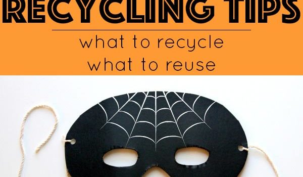 Halloween recycling tips all about what you can recycle, what you can't, and some ideas to reuse non-recyclable Halloween leftovers.