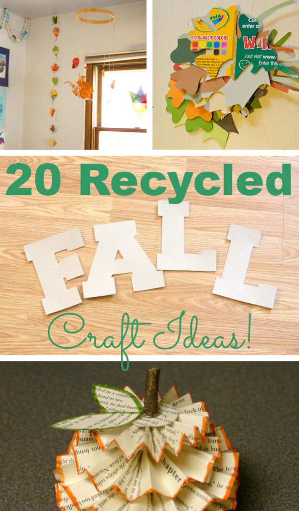fall craft ideas autumn craft ideas from recycled materials crafting a 1978