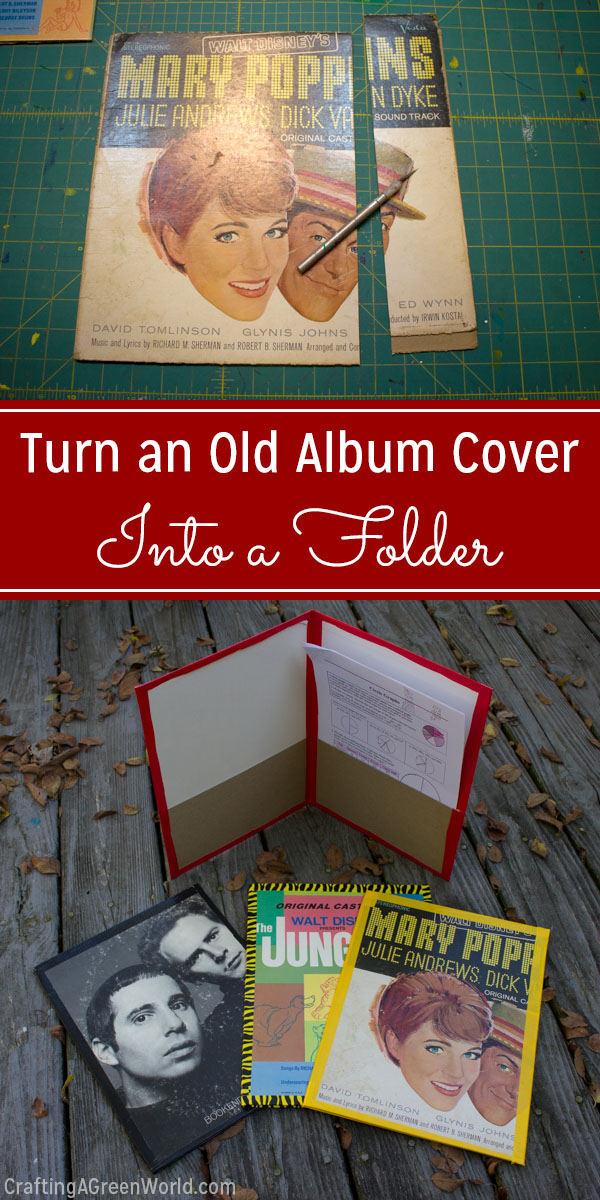 Here's how to make a folder from the cover to a record that's no longer playable.