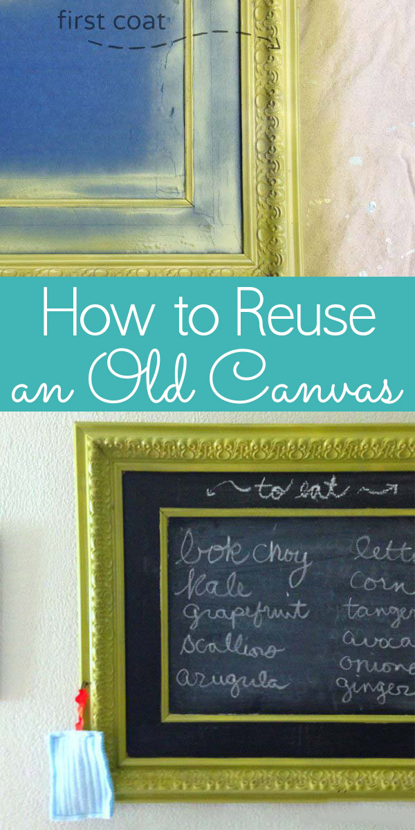 Here's how to reuse a canvas, whether you want to completely start over or make a piece of found art your own.