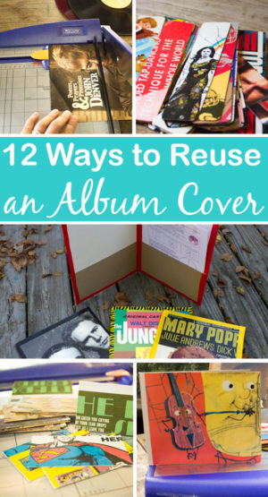 There are so many cool ways to reuse an album cover, whether you want to cut it up or display it as-is.