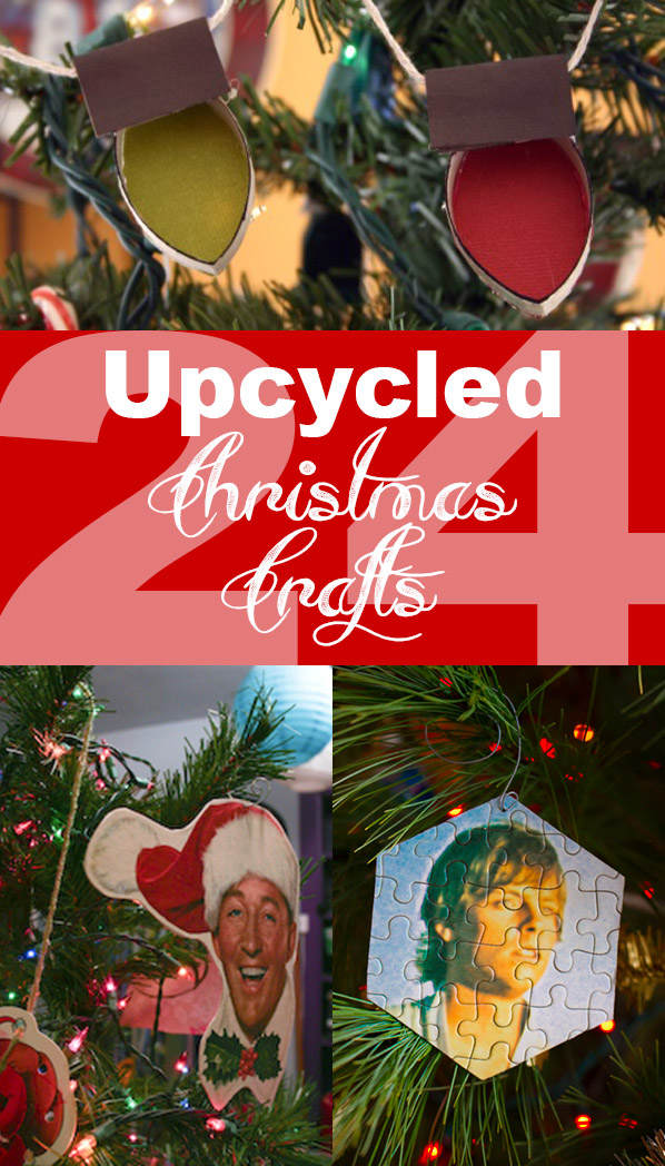 Let's have a very merry upcycled Christmas! Check out this list of upcycled crafts for Christmas for plenty of projects that you can make from upcycled and recycled materials.