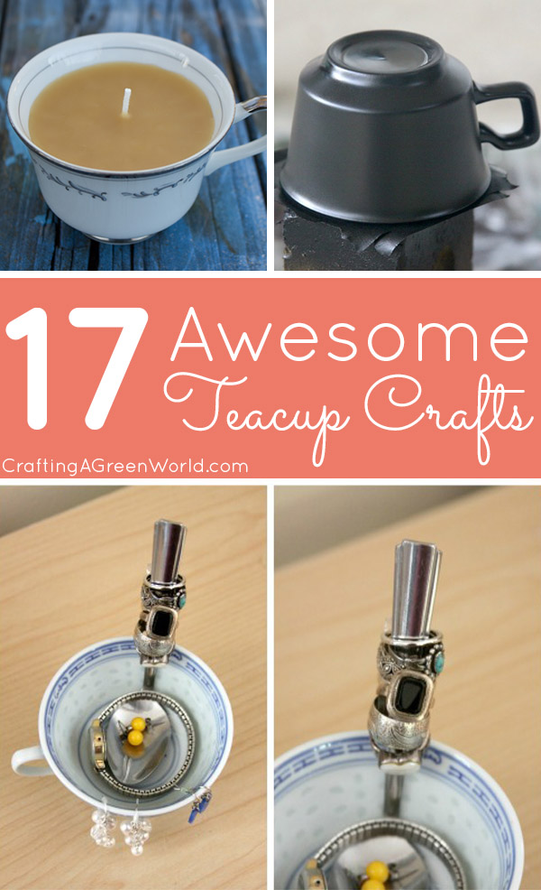 Grab an old teacup from your pantry or pick some up at the thrift store. We've got 17 awesome teacup crafts for you!