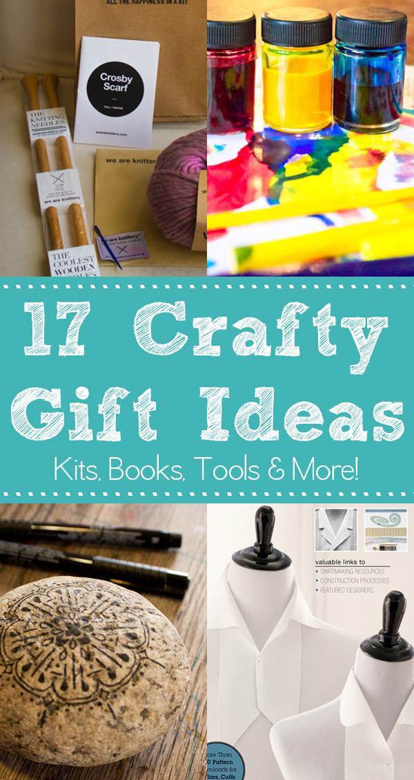 Great gift ideas for crafters on your list. Some are store-bought, some are handmade, and we have suggestions for a wide range of crafty uses.