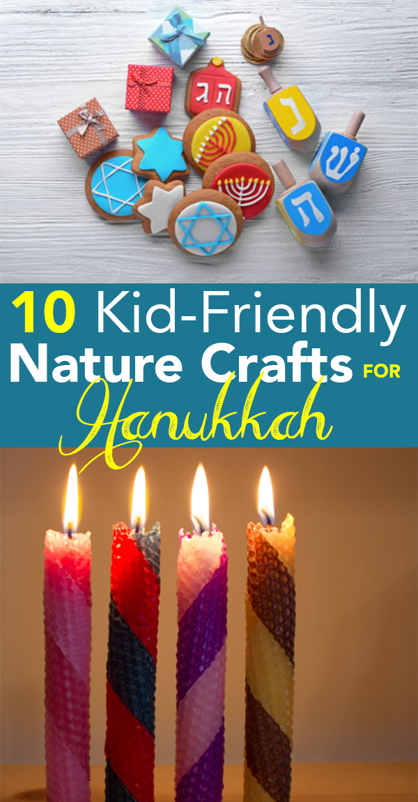 These nature crafts for Hanukkah are grown-up and kid-friendly!