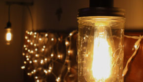 Mason Jar Hanging Light Fixture