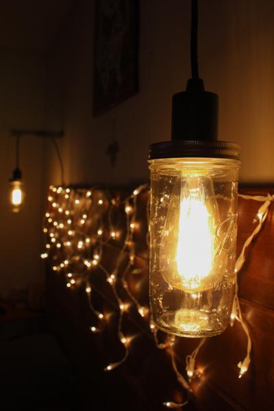 Mason Jar Hanging Light Fixture