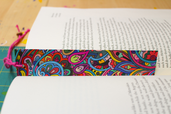 Coloring Page Bookmark Tutorial