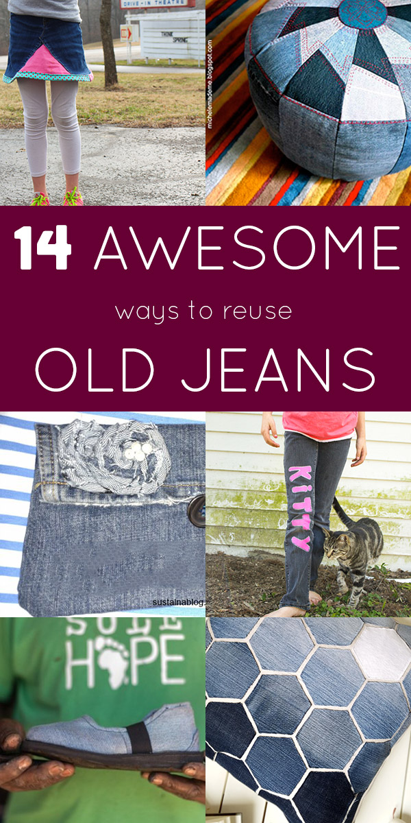There are so many ways to reuse old jeans! Grab some scissors, pull out the sewing machine, and let's do some upcycling.