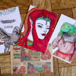 Make a Coloring Book Page Postcard