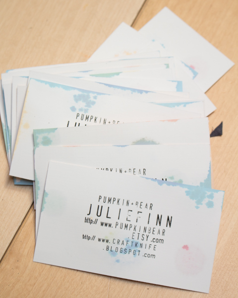 DIY Watercolor Business Cards