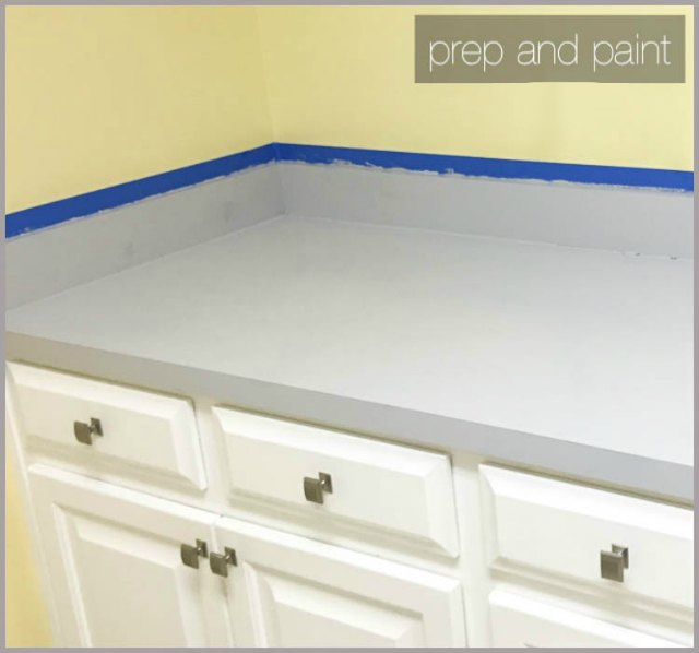 prep and paint your laminate countertops