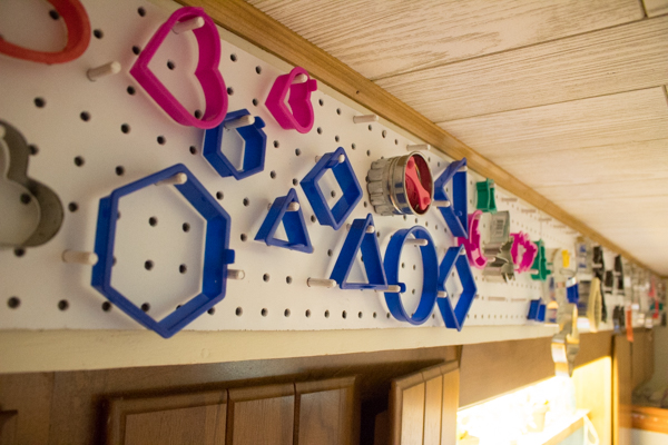 Make a Pegboard Cookie Cutter Holder
