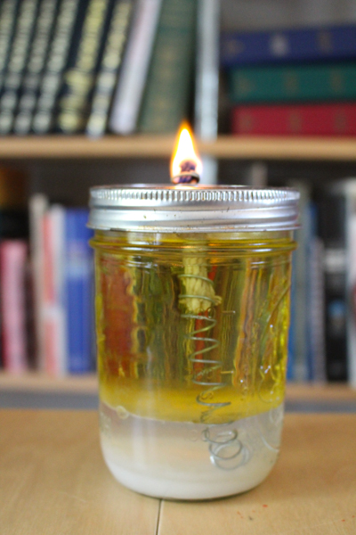 how to make an olive oil lamp