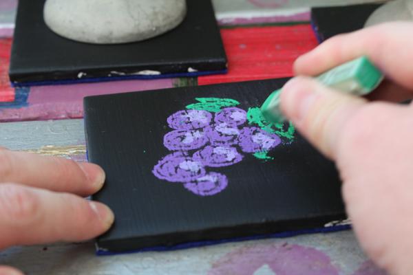chalkboard coaster