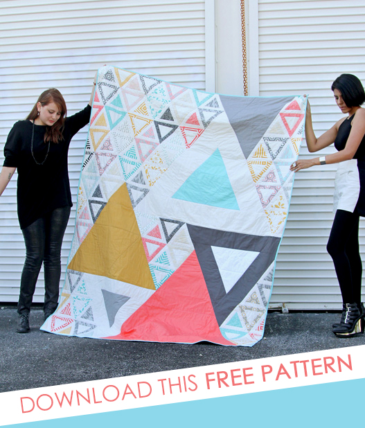 geometric triangle quilt