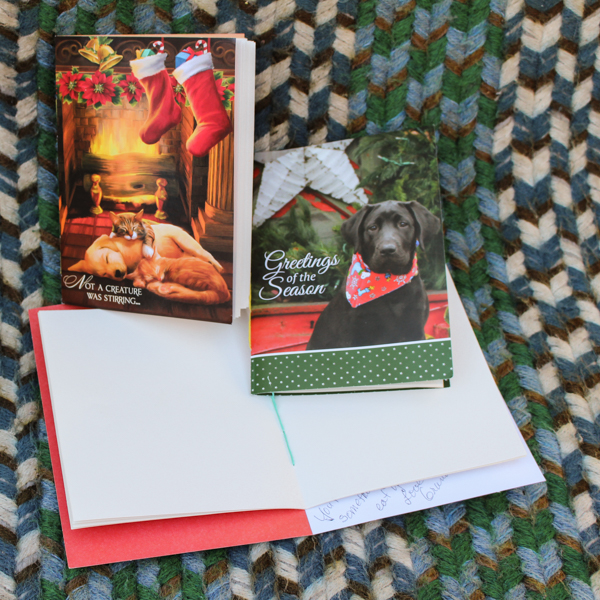 Make a Book from an Upcycled Greeting Card