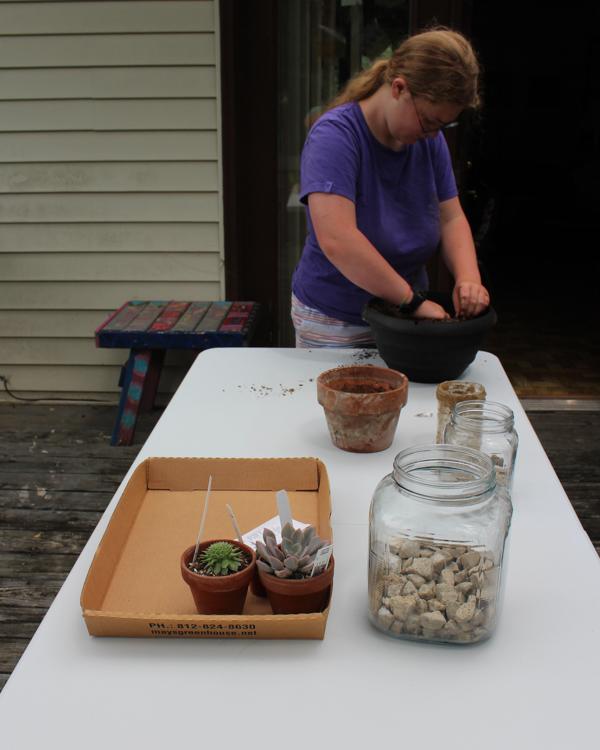 gathering fairy garden tools