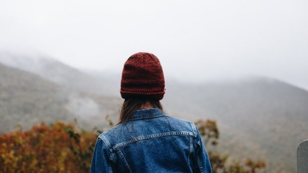 women in knit hat