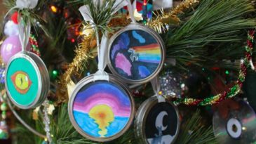 mason jar lid ring ornament
