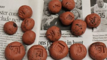 stamped clay seed bombs