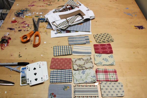 stash of upholstery samples