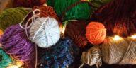 pile of scrap yarn