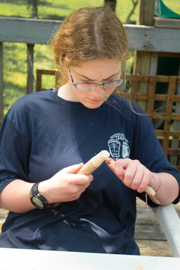 carving a stake