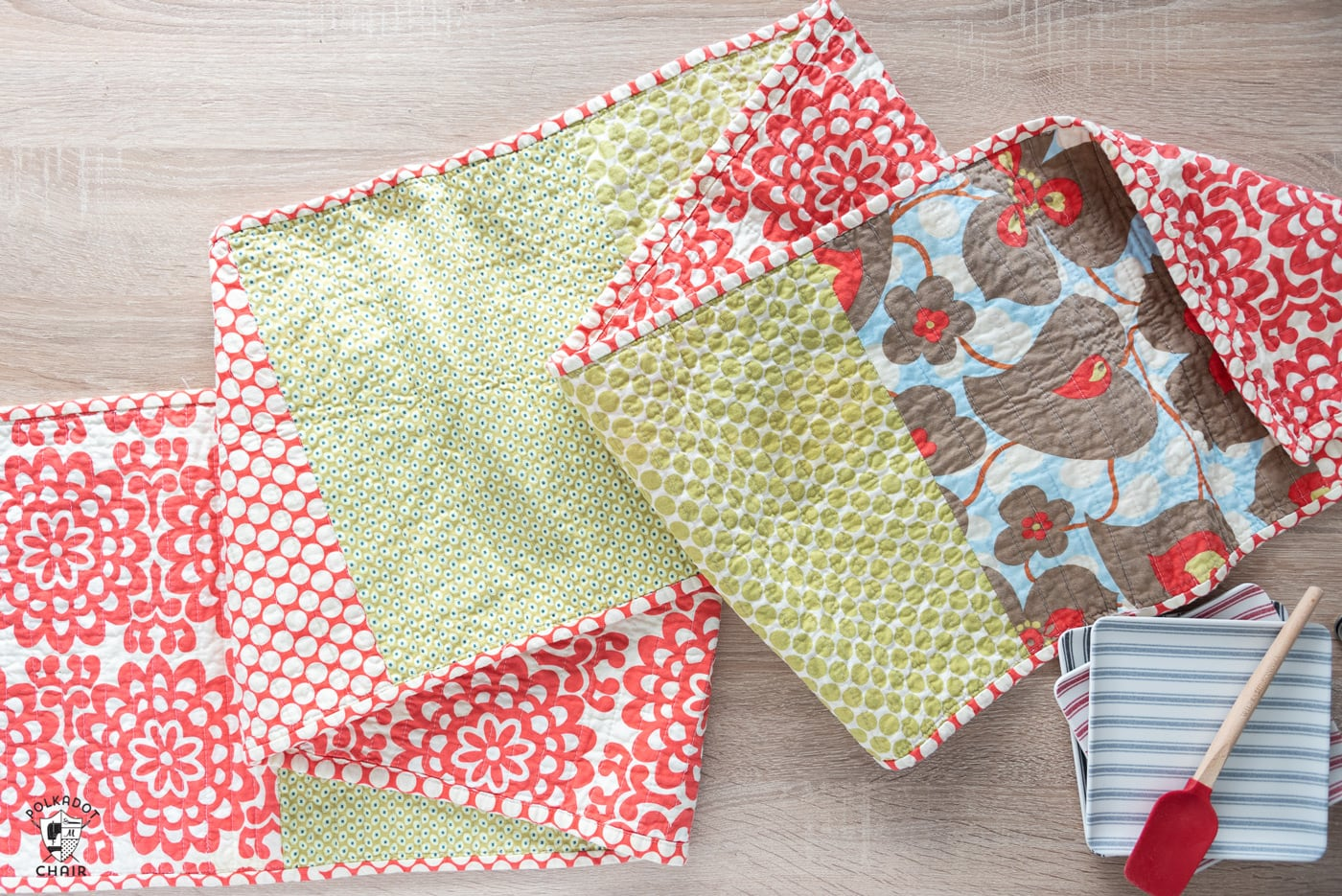 fat quarter quilted table runner