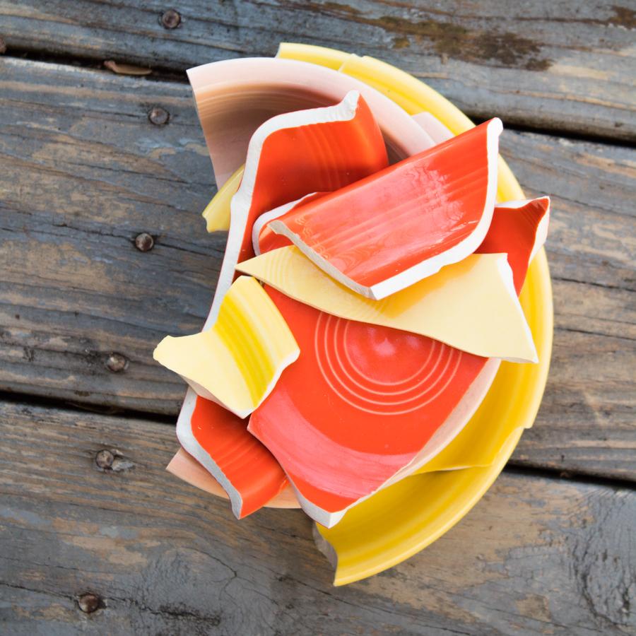 broken fiesta ware bowls