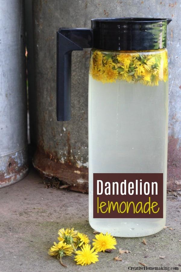 Dandelion Lemonade via Creative Homemaking