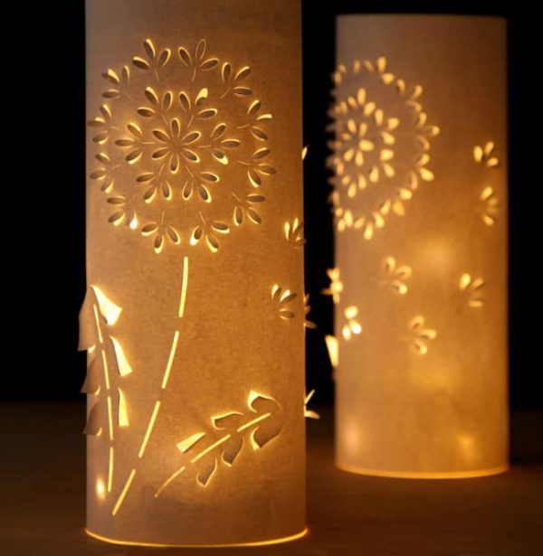 Dandelion Paper Lanterns via A Piece of Rainbow