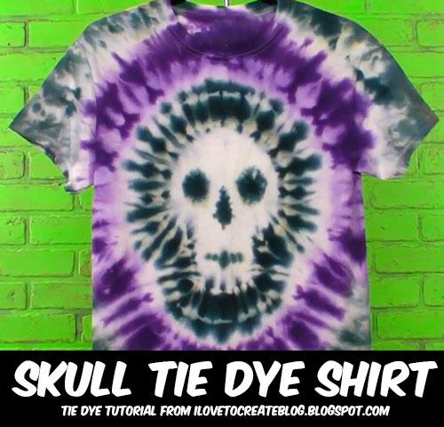 Tie-Dye Skull image via I Love to Create