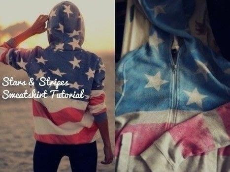 Stars and Stripes Hoodie via CoxalColab