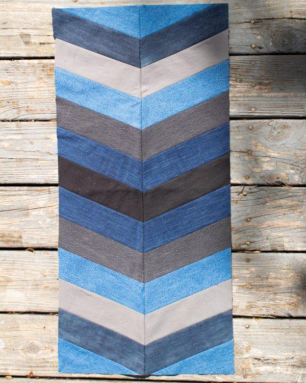 Herringbone Upcycled Denim Quilt Block