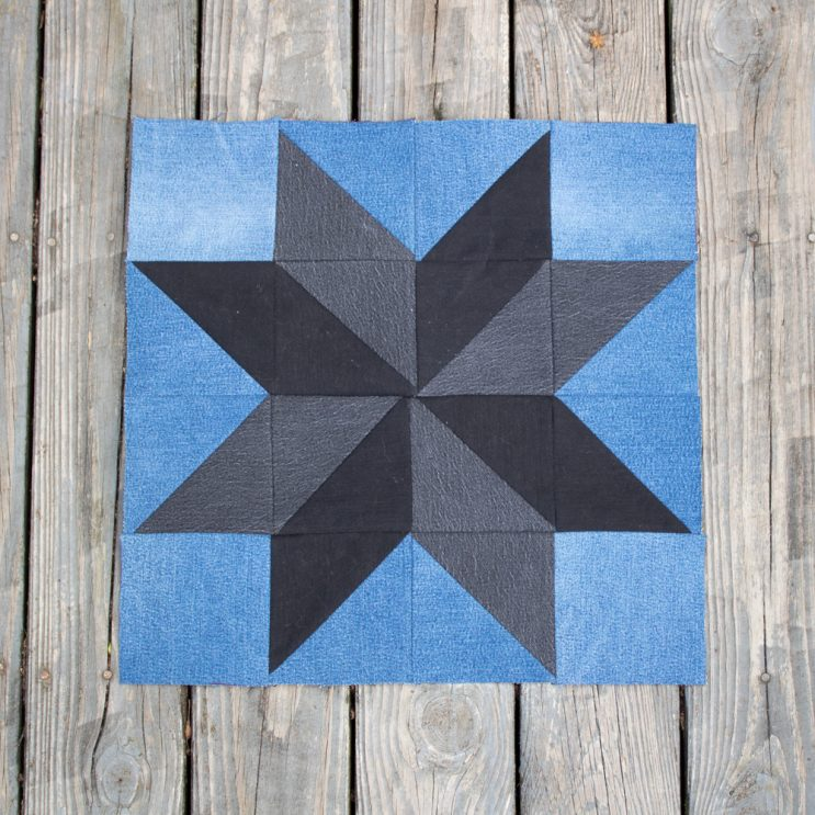 Upcycled Denim Quilt Block