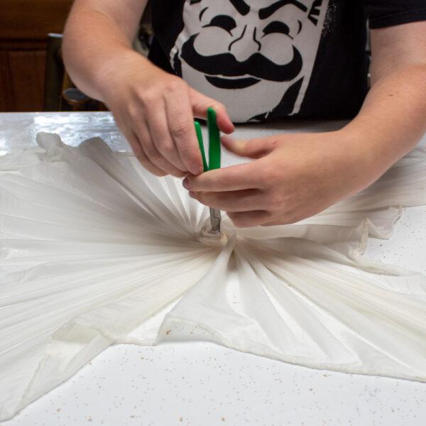 Tying a Silk Spiral