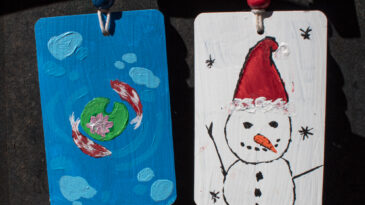 Altered Playing Card Ornaments