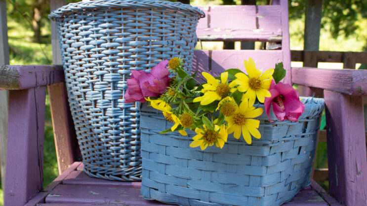 How to Repaint Wicker Baskets