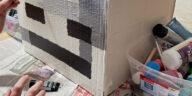 DIY Cardboard Minecraft Head